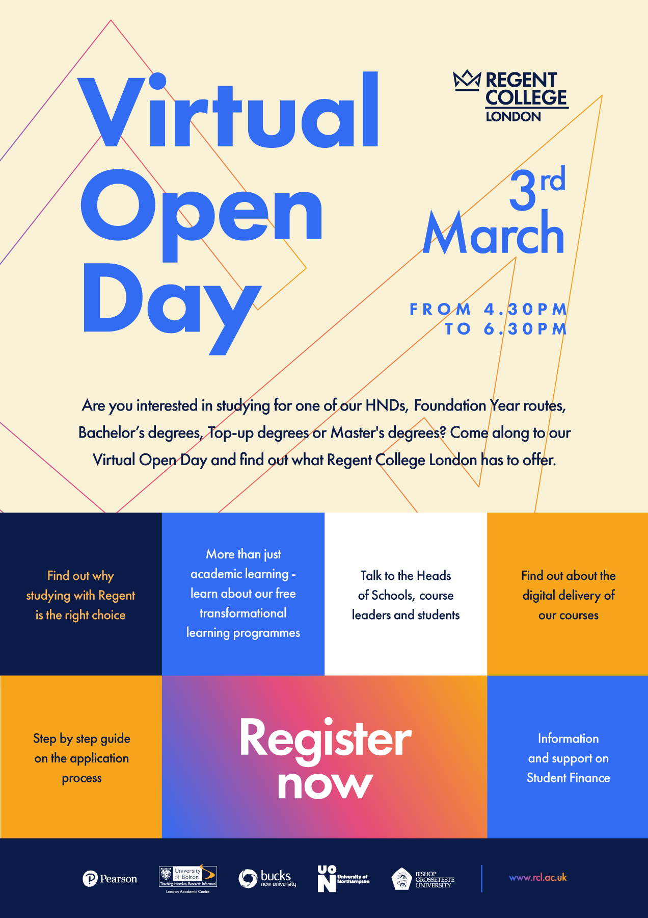Why attend a Virtual Open Day - Regent College?