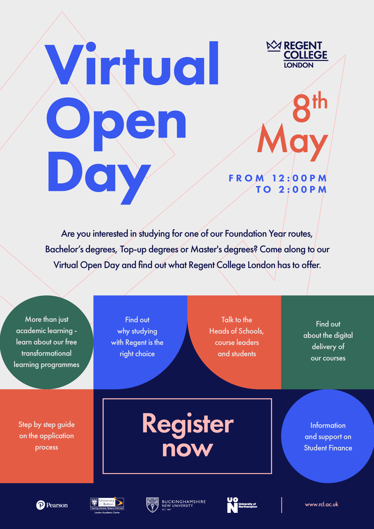 Register to attend a Virtual Open Day event - Weekend Open Days